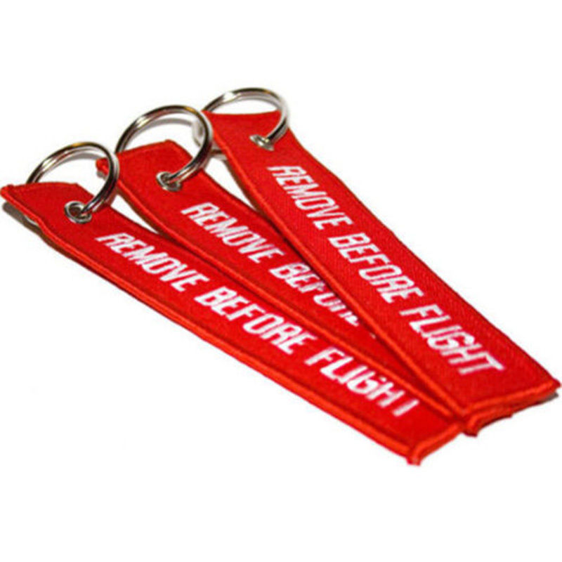 200Pcs DHL Custom Remove Before Flight  Embroidery Keychain cubre llaves key cover<br><br>Aliexpress