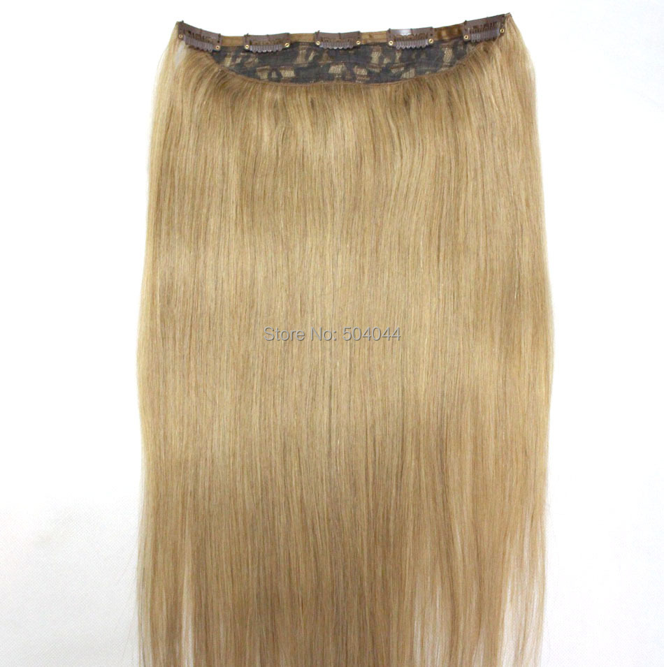 "16""-32"" 1Pcs Set Single Hairpieces 100% Brazilian Human Hair Clips In/on Extensions #18 70g 80g 100g 120g 140g 160g(China (Mainland))"