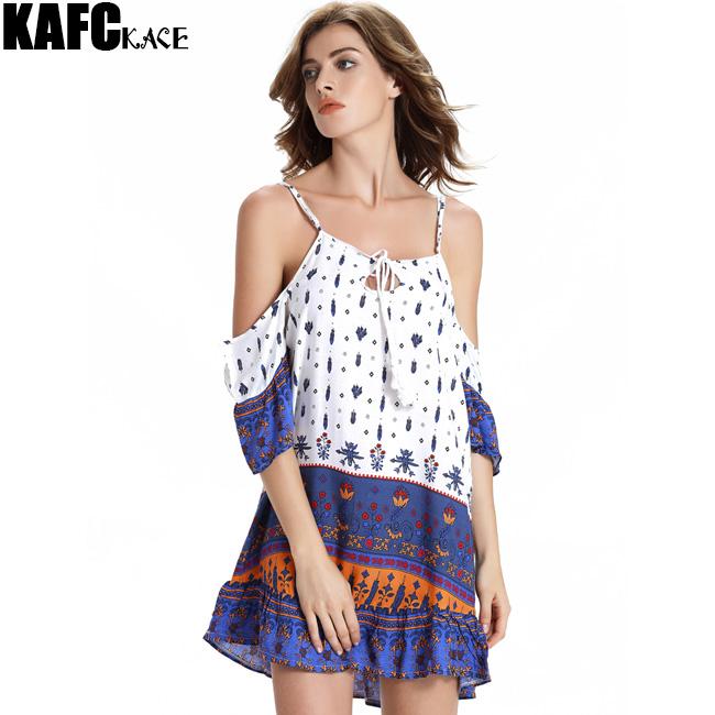 KAFAKACE Ethnic Style New 2016 Summer Women Dress Mini Dresses Retro Print Female Tunics Vestidos Clothes Off Shoulde Clothing(China (Mainland))