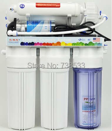 5 Stage Reverse Osmosis 400G Straight Home Drinking Water Purifier RO Reverse Osmosis System Aquarium Large Flow Water Filters(China (Mainland))