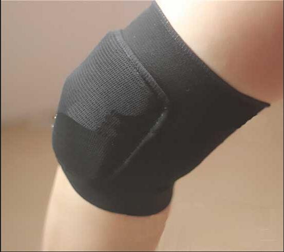 Hot New Haikyuu Cosplay Hinata Shyouyou Black Knee Kneepad Kneecap Cosplay Acc Free Shipping(China (Mainland))