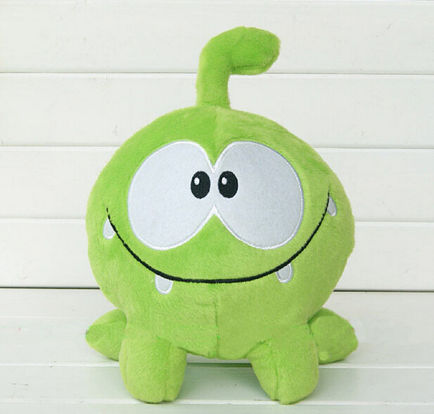 2015 so kawaii 7 20cm om nom frog plush toys cut the rope Soft rubber cut