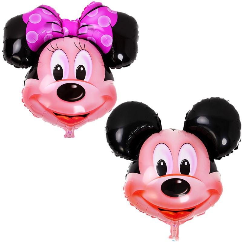 1 ШТ алюминиевые воздушные шары Минни Микки глава шар Мультфильм День Рождения Свадьба украшения детские игрушки