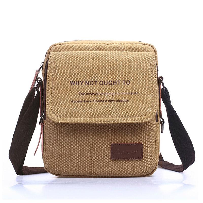 2015 New Men Messenger Bags Canvas Vintage Bag Men Shoulder Crossbody Bags for Man Brown Black Small Bag Designer Handbags Bolso(China (Mainland))