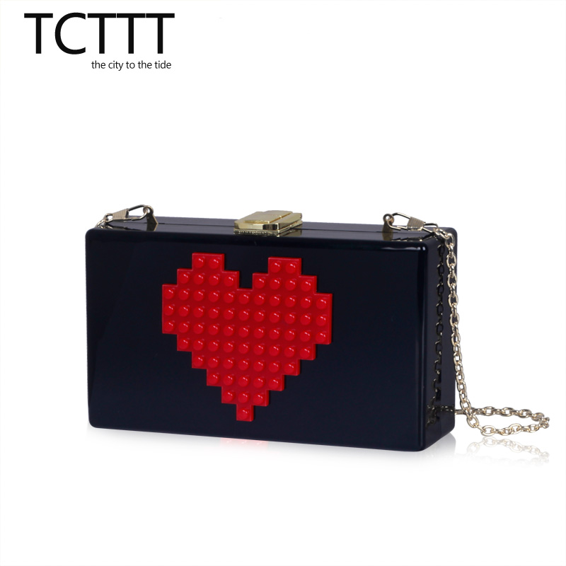 Women Brand LOVE Letters White Acrylic Clutch Shoulder Bag Hardcase Handbag Clutches Wedding Party Prom Purse Ladies Evening Bag(China (Mainland))