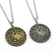 Buy Game Thrones Necklace Song ice fire Pendant Man Women stainless steel Chain Necklaces Gift TV Jewelry for $2.08 in AliExpress store