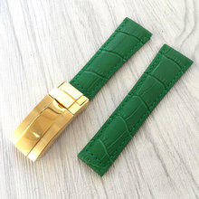MERJUST di Alta qualità 20 MILLIMETRI cinturino in pelle PER ROX SKY-DWELLER submariner MILGAUSS delle Daytona Uomo nero del braccialetto verde blu marrone(China)