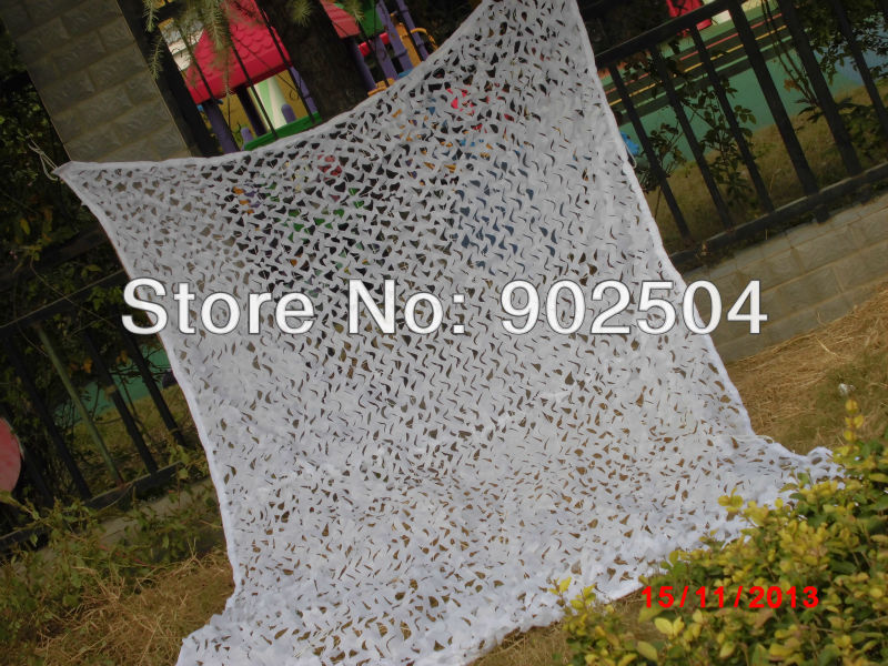 3*5M white camouflage net snow camo net household decoration mesh nets cover sunshade screen(China (Mainland))