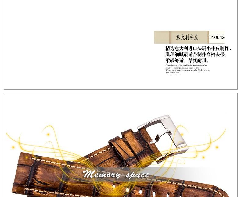 Прочный мужчины женщины Кожаный ремешок для мужчин и женщин 18 мм 20 мм 22 мм натуральная кожа браслет