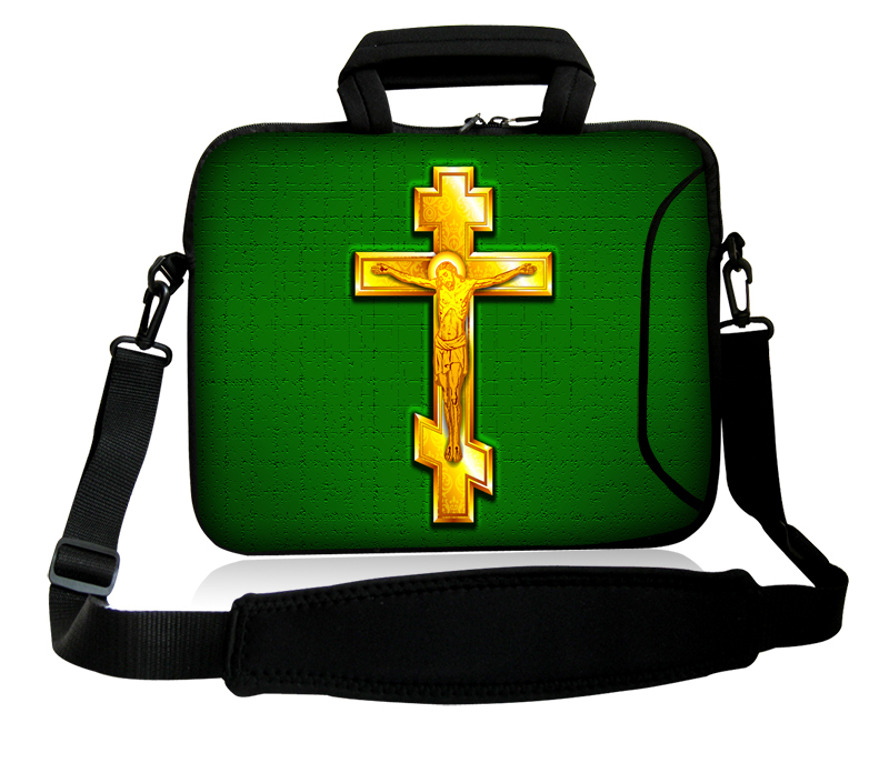 """Computer Portable Shoulder Handle Cover Case Neoprene Golden Cross Model10""""13""""14""""15""""17''Laptop Sleeve Sling Pouch For ThinkPad(China (Mainland))"""