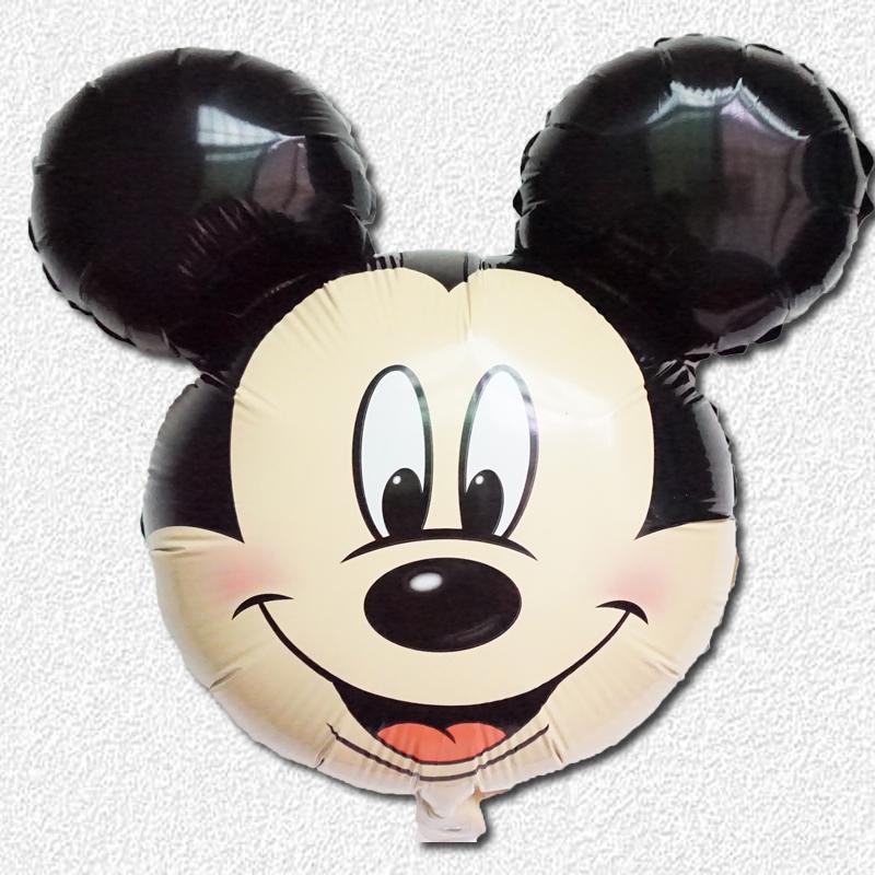 2pcs aluminium foil balloons birthday party baby Hundred Days black Mickey Minnie Mickey head helium balloon christmas(China (Mainland))