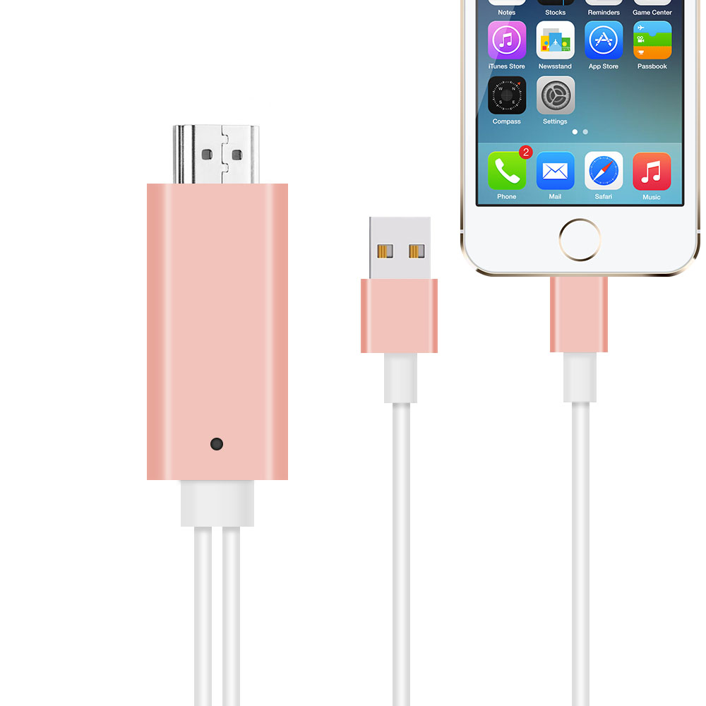 8 Pin To HDMI HDTV AV Cable For iPhone 5/5S/6/6S/7 Plus ipad Support HD1080P Connection TV ios10 New upgrade(China (Mainland))