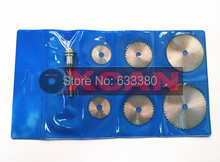 Free Shipping 6PCS HSS Rotary Circular Saw Blades Tool Cutting Discs Mandrel For Dremel Cutoff