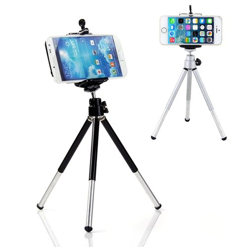 Mini 360 degree Rotatable Stand Tripod Mount Phone Holder For iPhone Samsung HTC 6NEB 7BAY