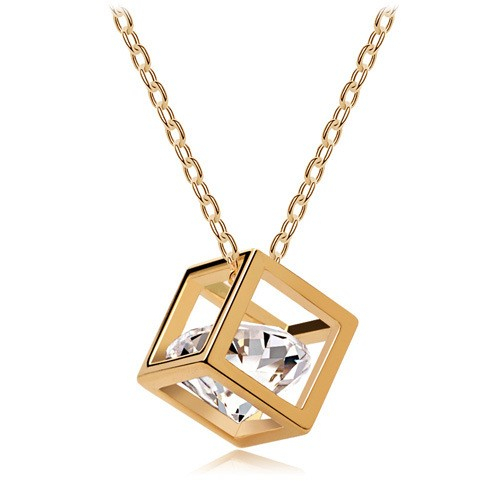 Crystal jewelry wholesale Eight cubes eight heart arrow zircon necklace pendant stereo love - 135(China (Mainland))