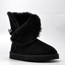 Envío de la Nueva Llegada 100% Real Clásica de Piel Mujer Botas Impermeables de Cuero Genuino del Zurriago de Botas Para la Nieve Zapatos de Invierno para Las Mujeres(China (Mainland))