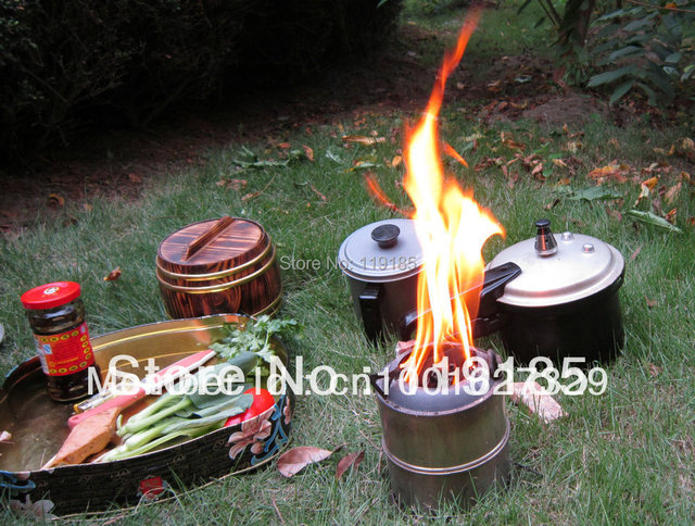 Super light carbon wood stove environmental portable picnic cooker solid alcohol stove outdoor appliances   FREE SHIPPING