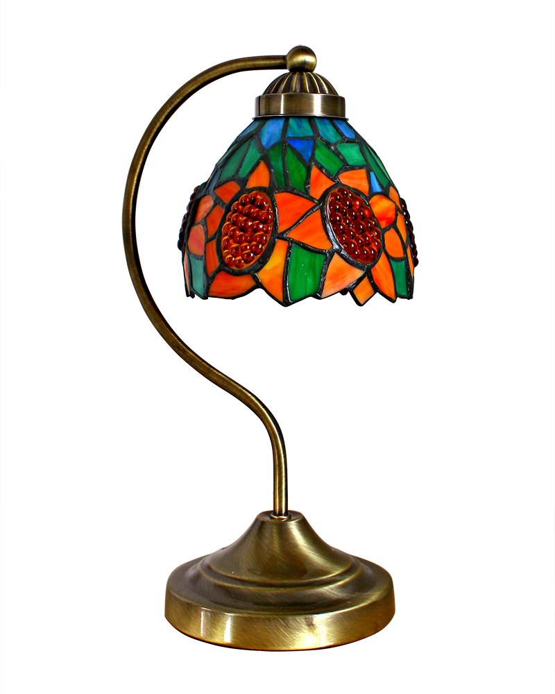 Traditional Tiffany Stained Glass Table Lamp With Sunflower Patterns Lighting Craft Free Shipping AC06006SU(China (Mainland))