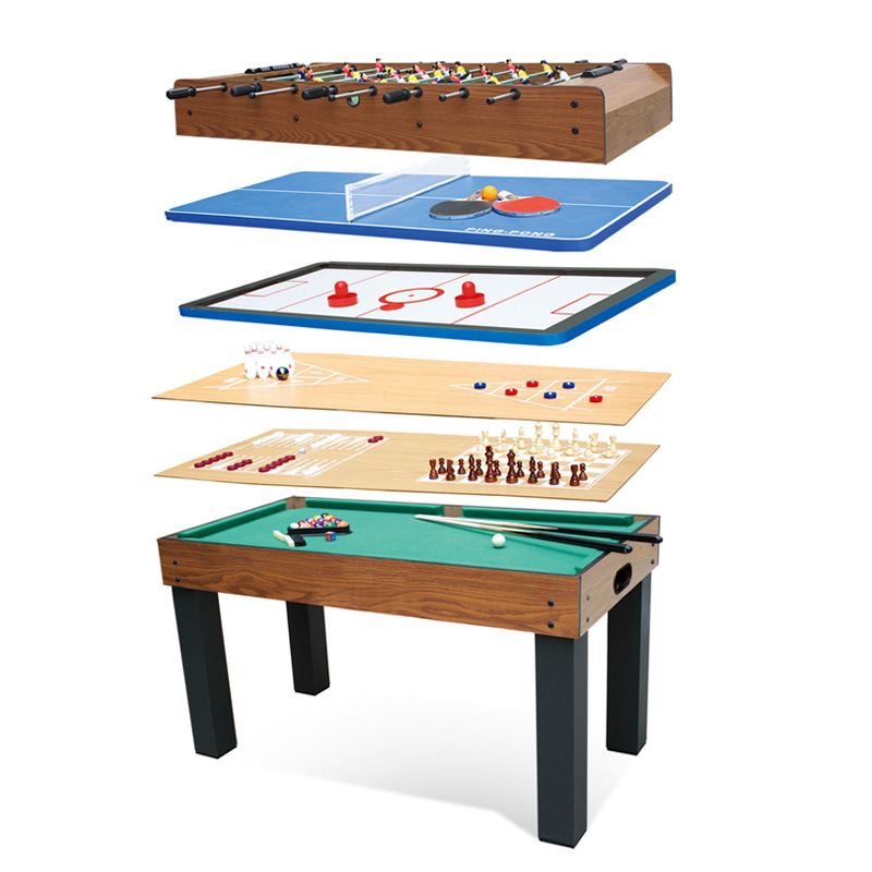 8 in 1 Kids Mini Multi game table Set Lifting folding Billiard Table Tabletop Pool Table 121*61*79cm 35kg(China (Mainland))