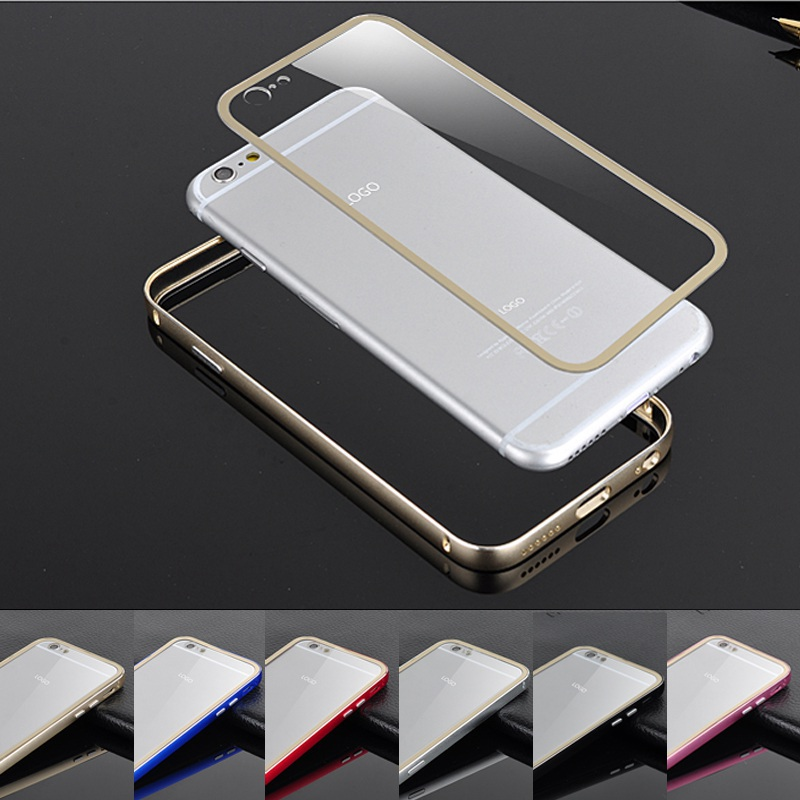 iPhone 6S Case Luxury Screwless Aluminum Side+Clear PC Back Skin Cover Protector 6 6s Mobile Phone bag cases - REDSTORE INT'L TRADING CO LTD store