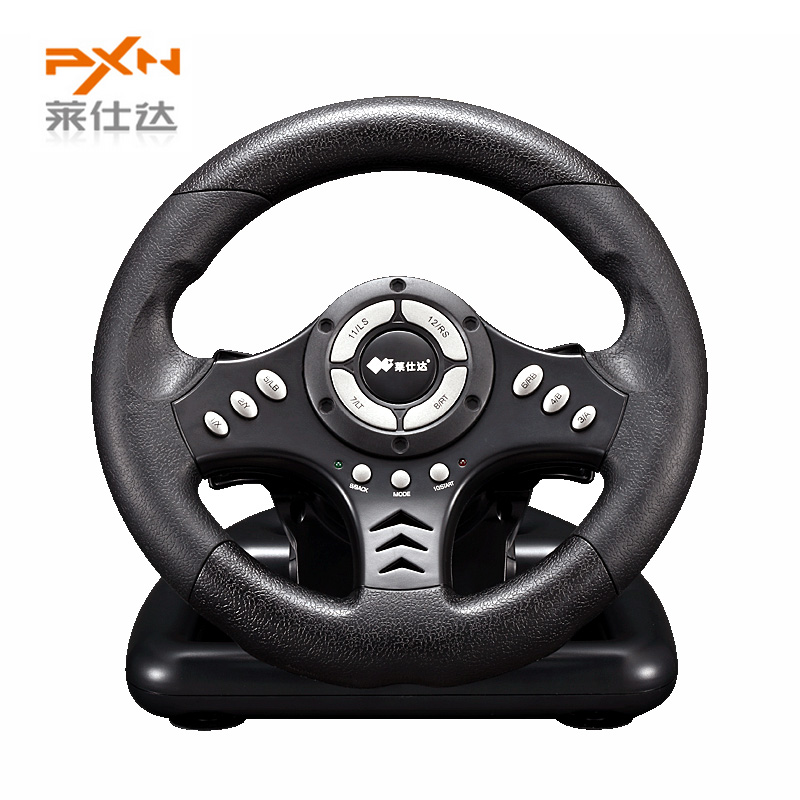 Hot Sale Litestar  PXN-V18S Illusiveness Computer Card USB Wired Vibration Motor Racing Game Steering Wheel For Games<br><br>Aliexpress