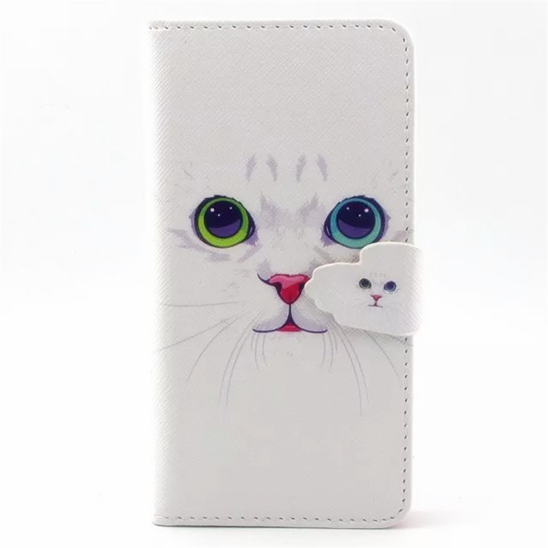Book Flip Case for iPhone 6 Plus & 6s Plus Cute Painting Patterns Flip Wallet PU Leather Case With Card Slot Cover Case