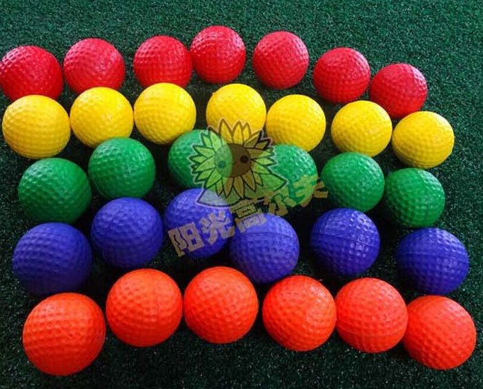New Golf balls indoor practice soft PU ball one piece ball for juniorred 5 colors Golf eqiuipment 10pcs/lot Free shipping(China (Mainland))