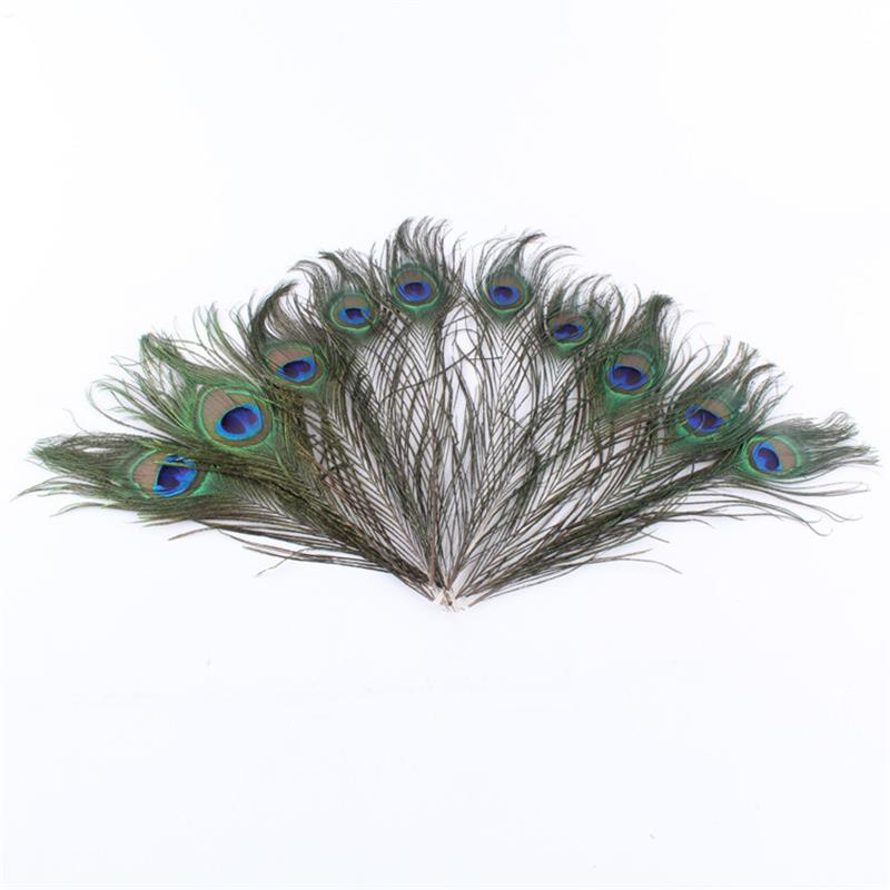 20pcs Peacock feathers 8-12 inch Beautiful Natural Feathers Wedding, Party ,Home ,Hairs DIY Decoration(China (Mainland))