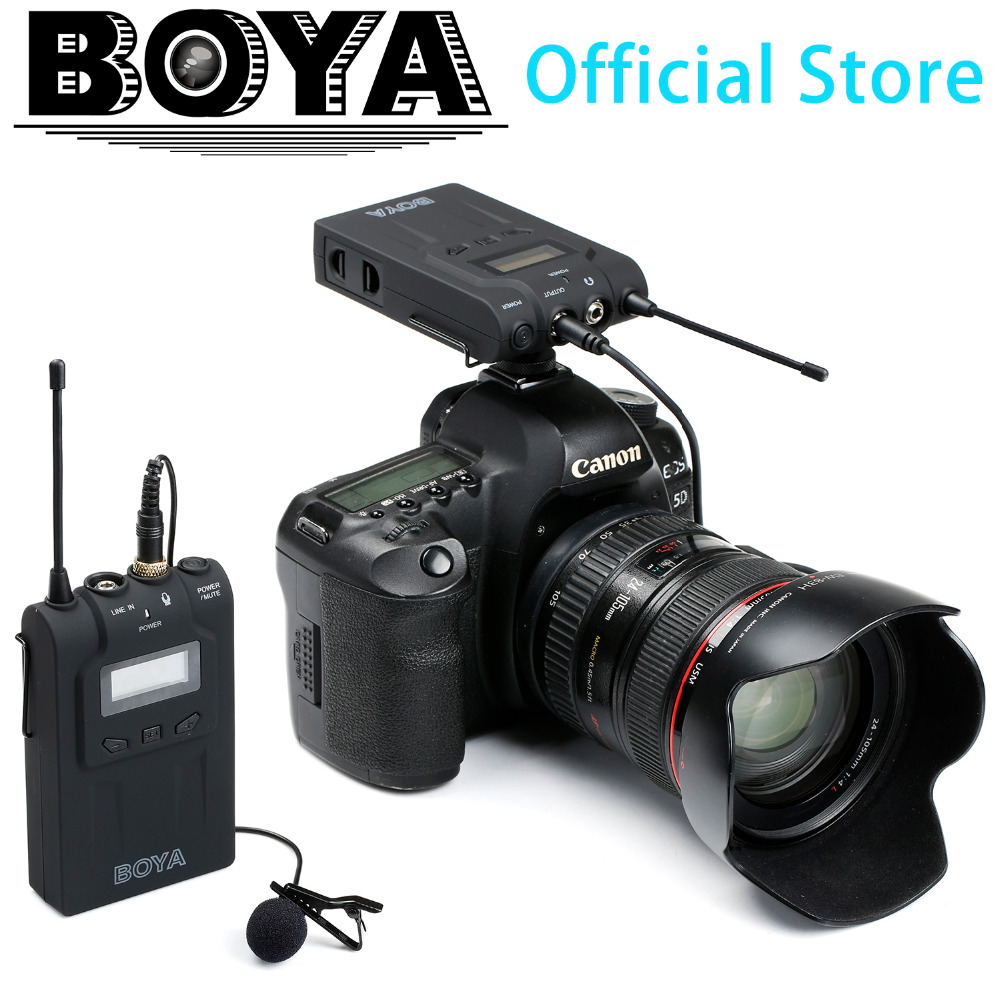 BOYA BY-WM6 UHF Professional Omni-Directional Lavalier Wireless Microphone System for ENG EFP DSLR Video<br><br>Aliexpress