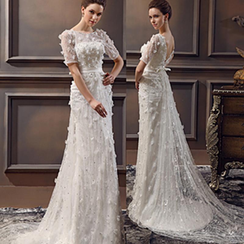 abule strap curved neckline discount cheap wholesale designer vintage ivory bridal gown elegant wedding dress vestido