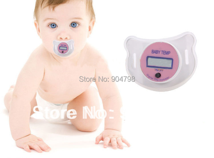 1 pcs Digital LCD pacifier thermometer baby nipple soft safe Popular YKS(China (Mainland))
