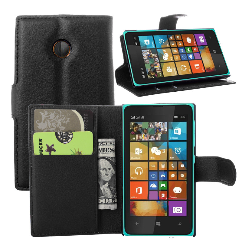 Luxury Wallet Style PU Leather Case for Microsoft Lumia 532 with Card Holders Smart Stand Soft Cover case for Lumia 532(China (Mainland))