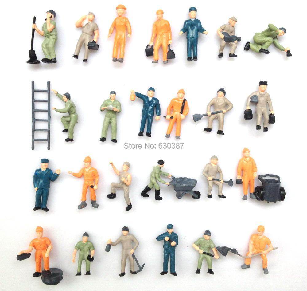 P8710 1:87 Well Painted Figures Workers HO Scale - EVE MODEL store