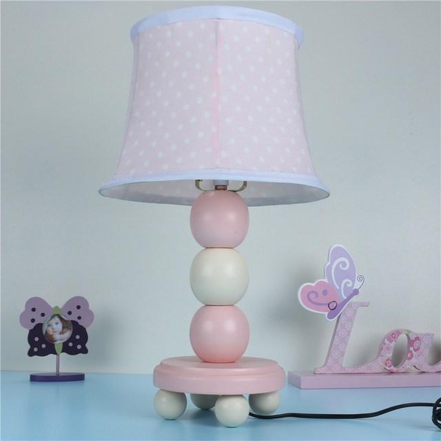 Tafellamp meisje roze ronde bal auto houten tafel lamp romantische kind tafellamp - Tafel roze kind ...