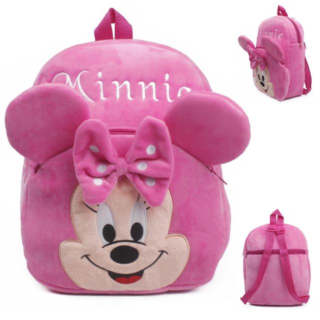 Высокое качество розовый минни плюшевые мультфильм игрушки рюкзак дети характер школы подарок для девочек детей возрастом 3 - 5 Mochila Infantil