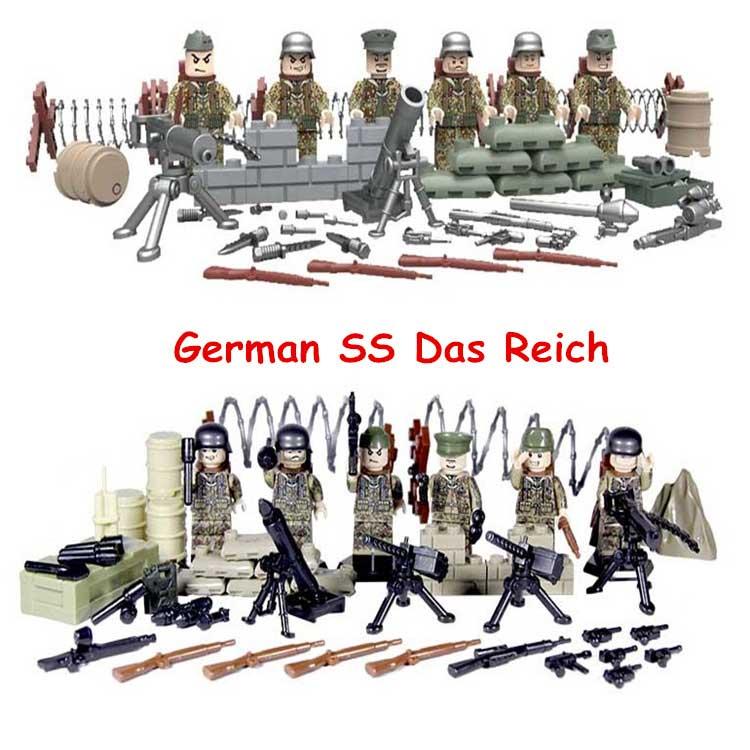 product Military <font><b>WW2</b></font> Anti-Fascist Battle Of Kharkov Eastern Front German SS Das Reich Army Minifigures Building Blocks Bricks Kids Toys