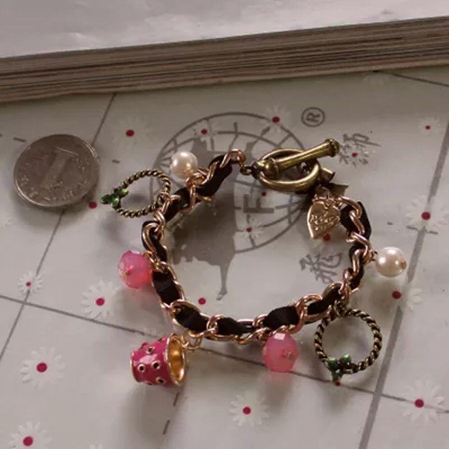 Fashion bracelet 2014 Fashion new BJ tableware series multielement pearl bracelet 120814 cups)(China (Mainland))