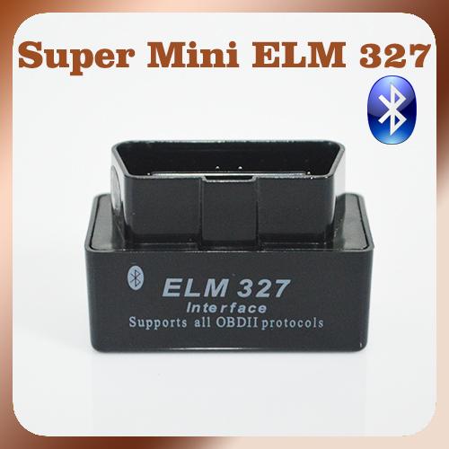 New Version Bluetooth ELM327 V2.1 Black Super MINI ELM 327 OBD2 / OBDII Car Code Scanner Auto Reader FREE SHIPPING(China (Mainland))