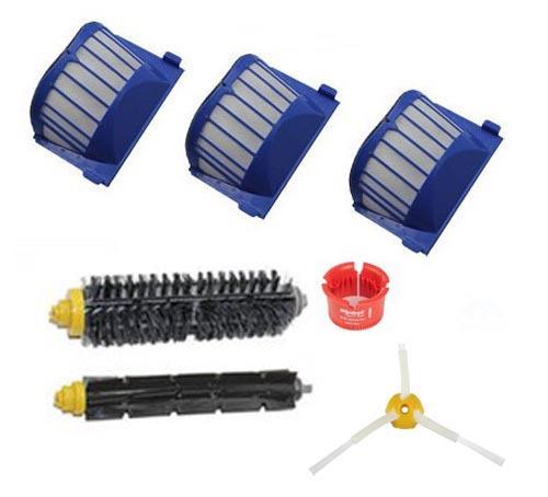 3* Aero Vac Filters + Bristle Brush + Beater Brush kit for iRobot Roomba 600 Series 620 630 650 660 vacuum cleaner accessories(China (Mainland))