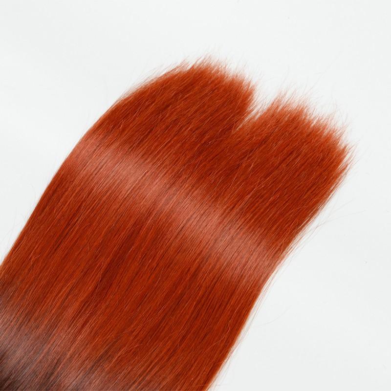 Colorful Human Hair 2PC Lot Human Braiding Hair Bulk T6/130 10A High Quality Brazilian Virgin Hair Ombre