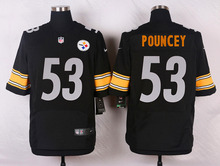 Pittsburgh Steelers #84 Antonio Brown #83 Miller #75 Joe Greene Elite White and Black Team Color high-quality free shipping(China (Mainland))