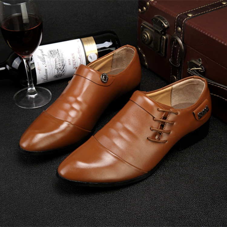 Zapatos Hombre 2016 Fashion Pointed Toe Oxford Shoes For Men Dress Shoes Formal Office Men Shoes Leather Brown Black Male Flats