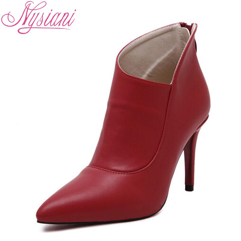 2015 Spring/autumn Thin Pointed Toe British Martin Boots Nightclub Thin Heels Elegant Fashion Women Ankle Boots Flat Heels(China (Mainland))