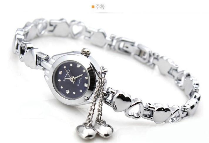 Famous Brand KIMIO Luxury Watch Women Small Quartz-watch Heart Love Band Fashion Ladies Bracelet Watches Women Watches Female(China (Mainland))