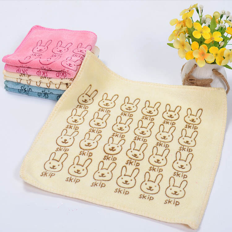 3Pcs/lot 25*25CM Baby superfine fiber Towel Kid Bath Towels Washcloth Square Towel Children hanging Wipe Wash Cloth lint-free