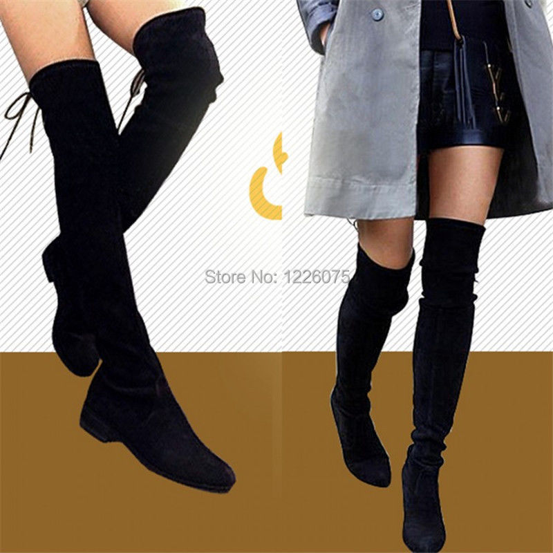 Plus Size Thigh High Flat Boots Pictures to Pin on Pinterest ...
