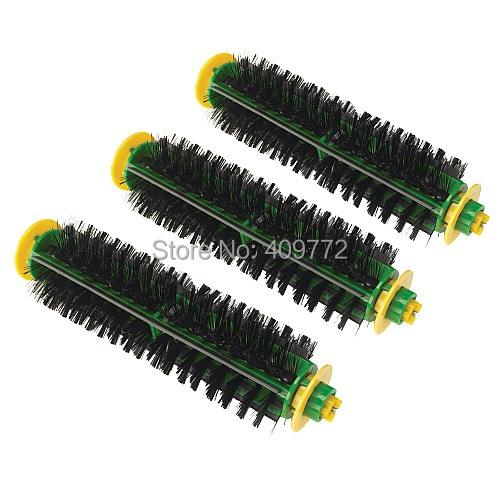 3 Pack Replacement Bristle Brush for iRobot Roomba 500 510 530 560 570 580 Vacuum Cleaners roomba 500 series bristle brush(China (Mainland))