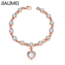 2016 High quality New arrival JIALIMEI brand fashion Jewelry 18k gold plated bracelet with zircon for women gift B001(China (Mainland))