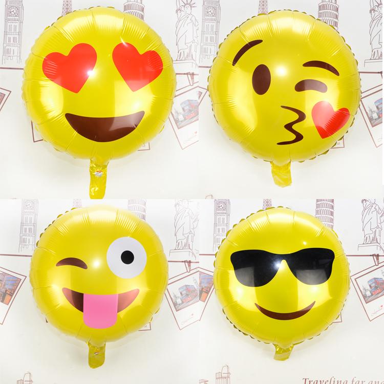 "6pcs/lot Emoji Balloons 18"" Emoji Cool Mylar Balloon / Emoji Cool Face Balloon/ Funny Birthday Balloon(China (Mainland))"