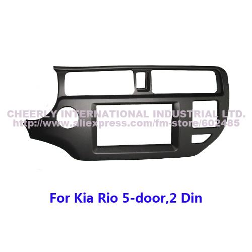 2 din Car Audio Frame, Radio Dash Kits,Fascia, Adapter, DVD Player Frame, Radio Kits for KIA Rio 5-door(Left Hand),Double Din(China (Mainland))